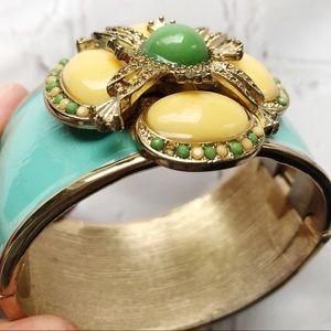 Jewelry - Floral enamel cuff bracelet